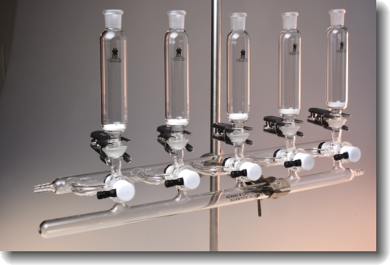 Peptide Synthesis Glassware Assembled