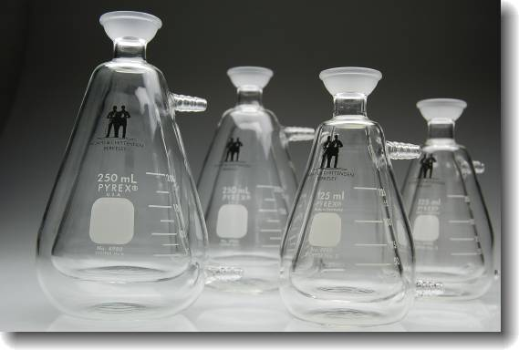 Jacketed Erlenmeyer flasks